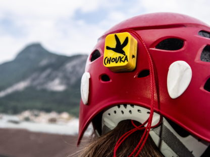 The CHOUKA vario on a mountain helmet